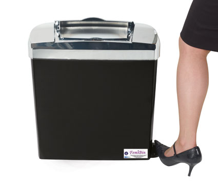 FemiBin : <br>Sanitary Disposal Unit / </br>Feminine Hygiene Unit (FHU)<br>Black & Chrome Range