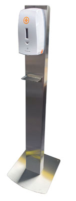 Automatic Alcohol Hand Sanitiser Dispenser - Free-standing Stainless Steel