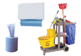 Kitchen Consumables, Blue Rolls, Dish Wash washing up liquid, detergent, mops, towels